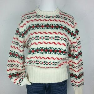 Vintage Holiday Christmas Sweater Warm Knit